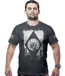 Camiseta Militar Concept Line Team Six Tactical Flag Brasil