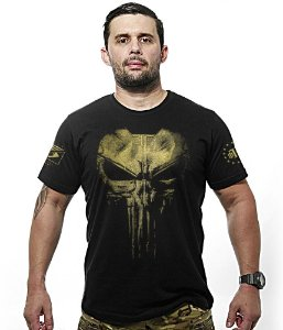 Camiseta Militar Punisher Plate Gold Line