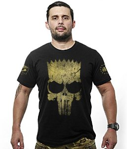 Camiseta Militar Punisher Bart Gold Line