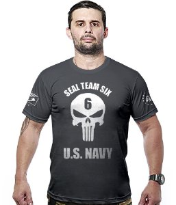 Camiseta Militar Punisher Seal Team Six US Navy Hurricane Line