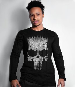 Camiseta Manga Longa Punisher Bart