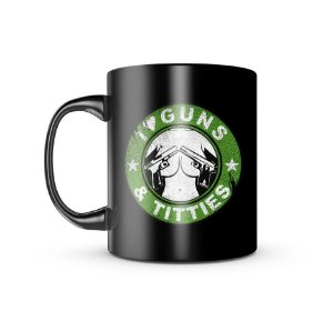 Caneca Dark Militar I Love Guns And Titties