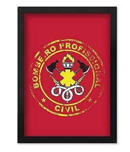 Poster com Moldura Militar Bombeiro Civil