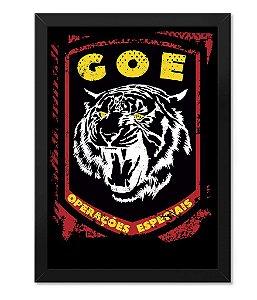 Poster com Moldura Militar GOE