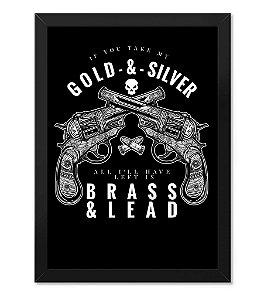 Poster com Moldura Militar Gold And Silver