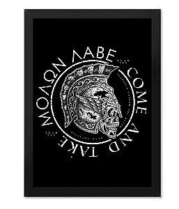 Poster com Moldura Militar Molon Labe