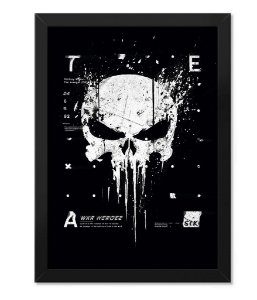 Poster com Moldura Militar New Punisher