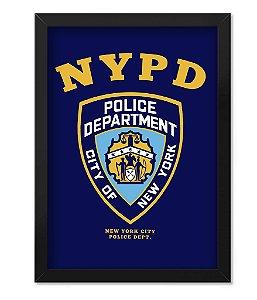 Poster com Moldura Militar New York Police Department NYPD