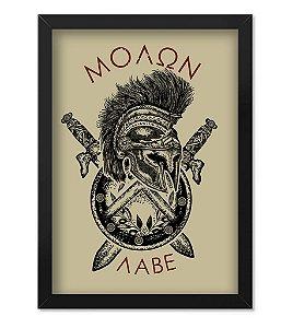 Poster com Moldura Militar Molon Labe Sparta