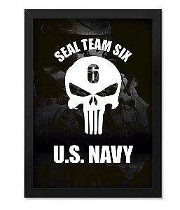 Poster com Moldura Militar Navy Seals Marines