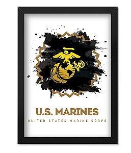 Poster com Moldura Militar US Marines