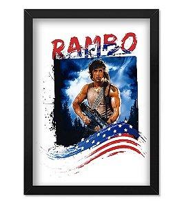 Poster com Moldura Militar Rambo