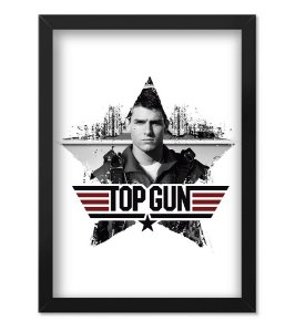Poster com Moldura Militar Top Gun