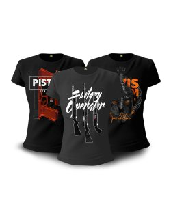 Kit 3 Camisetas Baby look Femininas Militares GUFZ6 Operator