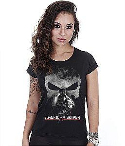 Camiseta Baby Look Feminina Squad T6 GUFZ6 American Sniper