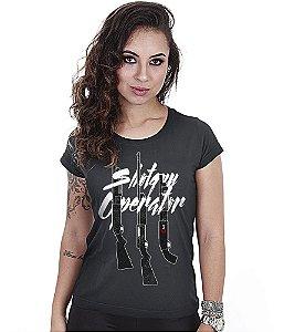 Camiseta Baby Look Feminina Squad T6 GUFZ6 Shotgun Operator