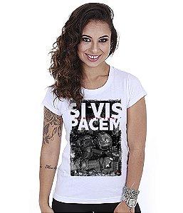 Camiseta Baby Look Feminina Squad T6 GUFZ6 Si Vis Pacem Para Bellum Soldier