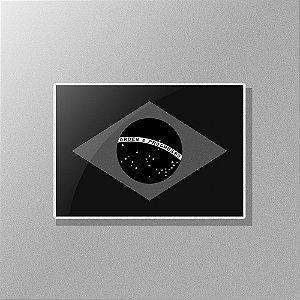 Adesivo Exclusivo Bandeira do Brasil Negativa