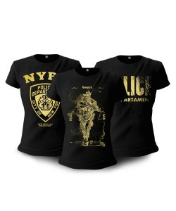 Kit 03 Camisetas Baby Look Feminina NYPD