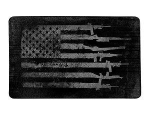 Tapete Militar Grunge Team Six EUA Flag Arms