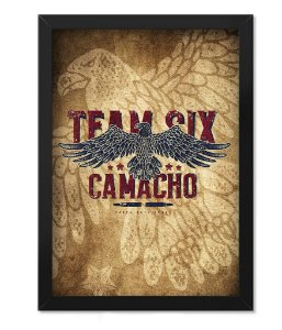 Poster com Moldura Squad T6 Camacho Artesão Eagle Team Six Collection