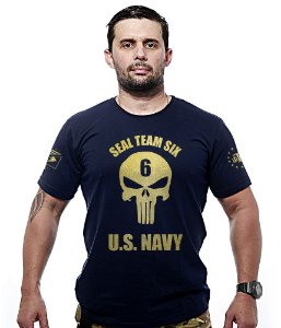 Camiseta Militar Gold Line Punisher Seal Team Six