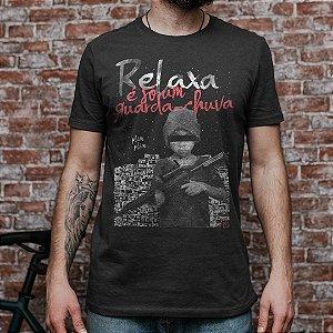 Camiseta Militar Casual Vidi Vici Relaxa é só um guarda chuva Plim Plim