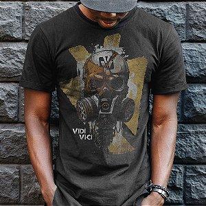 Camiseta Militar Casual Vidi Vici Pandemia Apocalipse