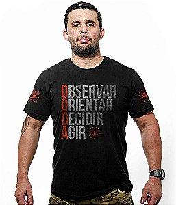 Camiseta Militar Ciclo Ooda Observar Orientar Decidir Agir Team Six