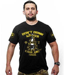 Camiseta Militar Dont Drink My Beer Dont Tread On Me Tribute Team Six