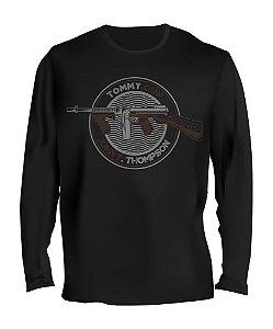 Camiseta Manga Longa Tactical Fritz Tommy Gun John T. Thompson Team Six