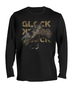 Camiseta Manga Longa Tactical Fritz Glock Multicam Team Six