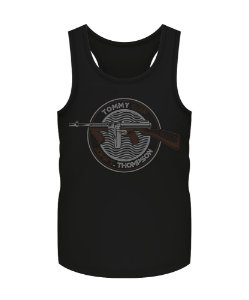 Camiseta Regata Militar Instrutor Fritz Tommy Gun John T. Thompson