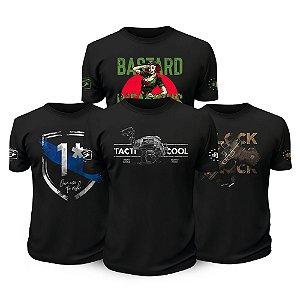 Kit 4 Camisetas Militares Tati Cool Tactical Fritz Team Six