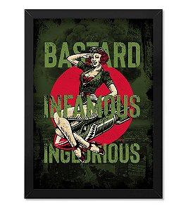 Poster com Moldura Tactical Fritz Bastard Infamous Inglorious
