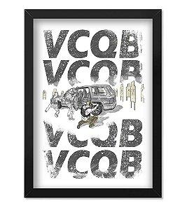 Poster com Moldura Tactical Fritz VCQB