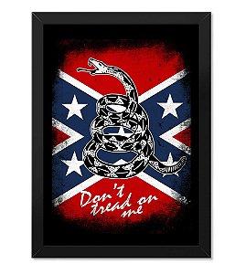 Poster com Moldura Tactical Fritz Don't Tread On Me Flag