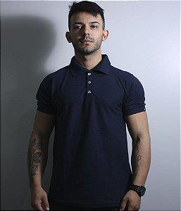 Camiseta Gola Polo Team Six Lisa Azul