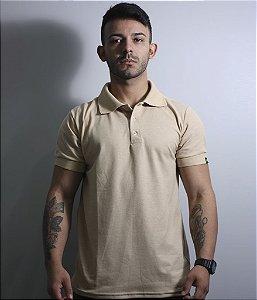 Camiseta Gola Polo Masculina Lisa Coyote Team Six