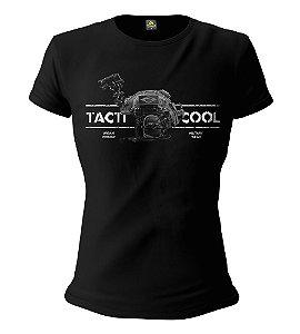 Camiseta Militar Baby Look Feminina Instrutor Fritz Urban Vintage Tacti Cool