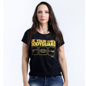 Camiseta Militar Baby Look Feminina Lador Be Your Own Bodyguard Team Six