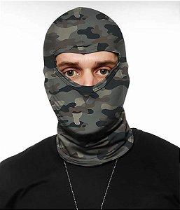 Balaclava Tática Militar Camuflada Multicam Gray Em Dry Fit Operações especiais