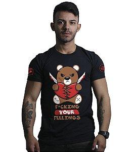 Camiseta Militar Masculina Funny Fuck Your Feelings Team Six