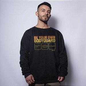 Casaco Básico de Moletom Lador Be Your Own Bodyguard Team Six