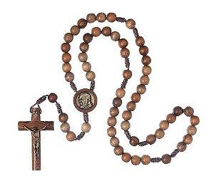 Terço Padre Pio - Madeira - Chagas
