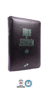 Bíblia de Jerusalém Média c/ zíper