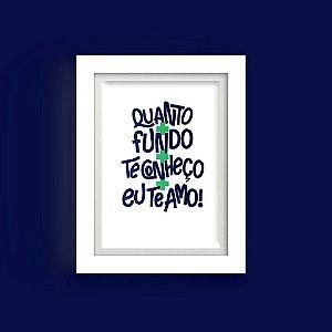 """Quadro - """" Incansável Amor """"- Tamanho 15x20cm"""