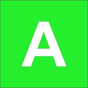 Chapas ABS para gravação mecânica verde claro com fundo branco