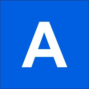 Chapas ABS para gravação mecânica azul com fundo branco