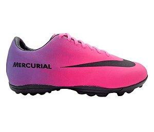 f1c0c8ad61 Chuteira Society Nike Mercurial Roxo e Pink
